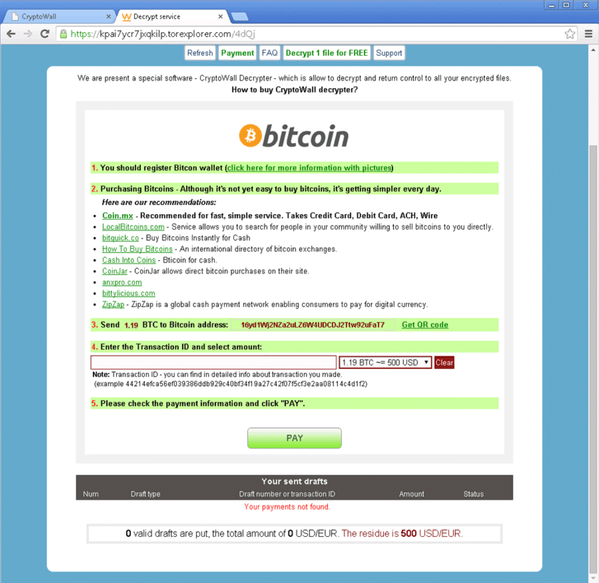 Cryptolocker, On The Otherhand, Presents An Inyourface Do This Or Else  Notification, With