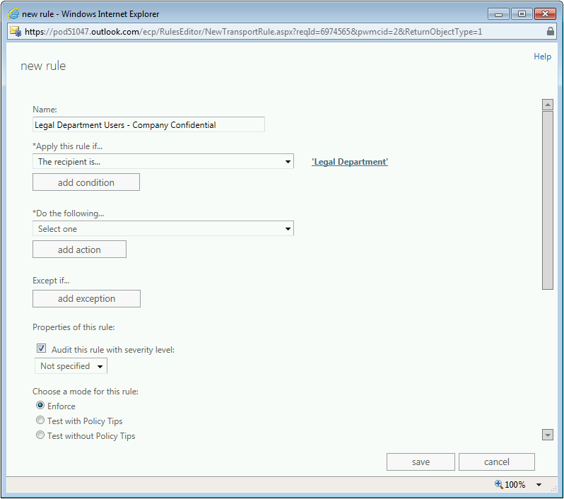 Information Protection and Control (IPC) in Office 365 with