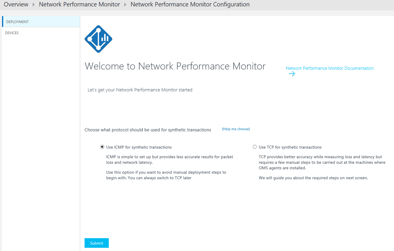 Operations Management Suite (OMS): Network Performance Monitor