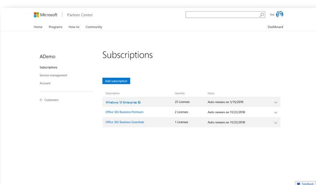 Introduction to Windows 10 subscriptions in the Cloud