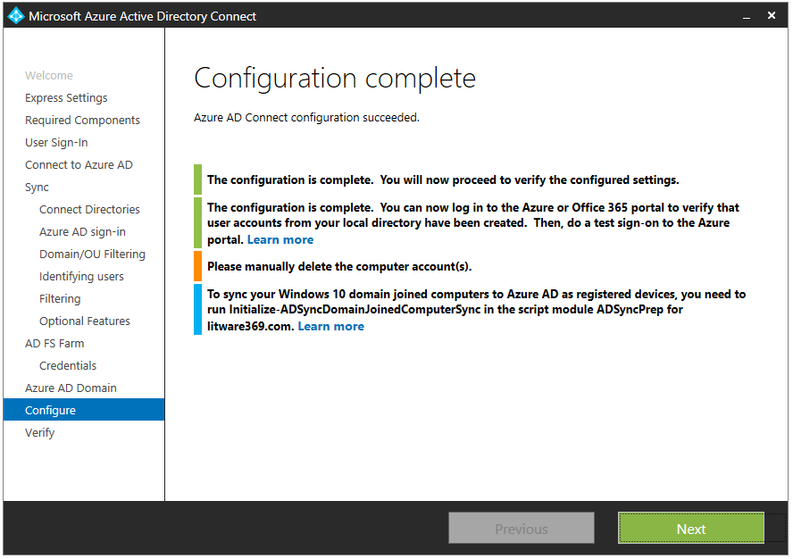 Azure AD/Office 365 seamless sign-in – Implement single sign